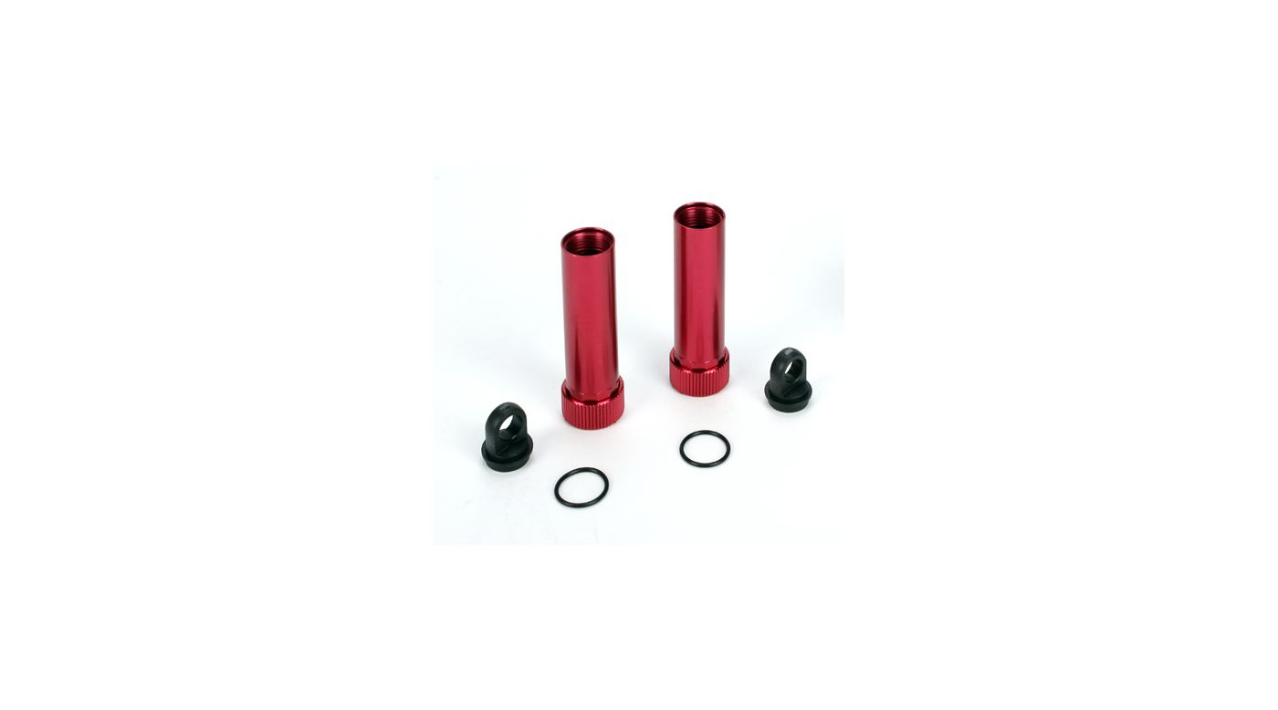 Image for 3-Piece Aluminum Shock Body, Red (2): NCR from HorizonHobby