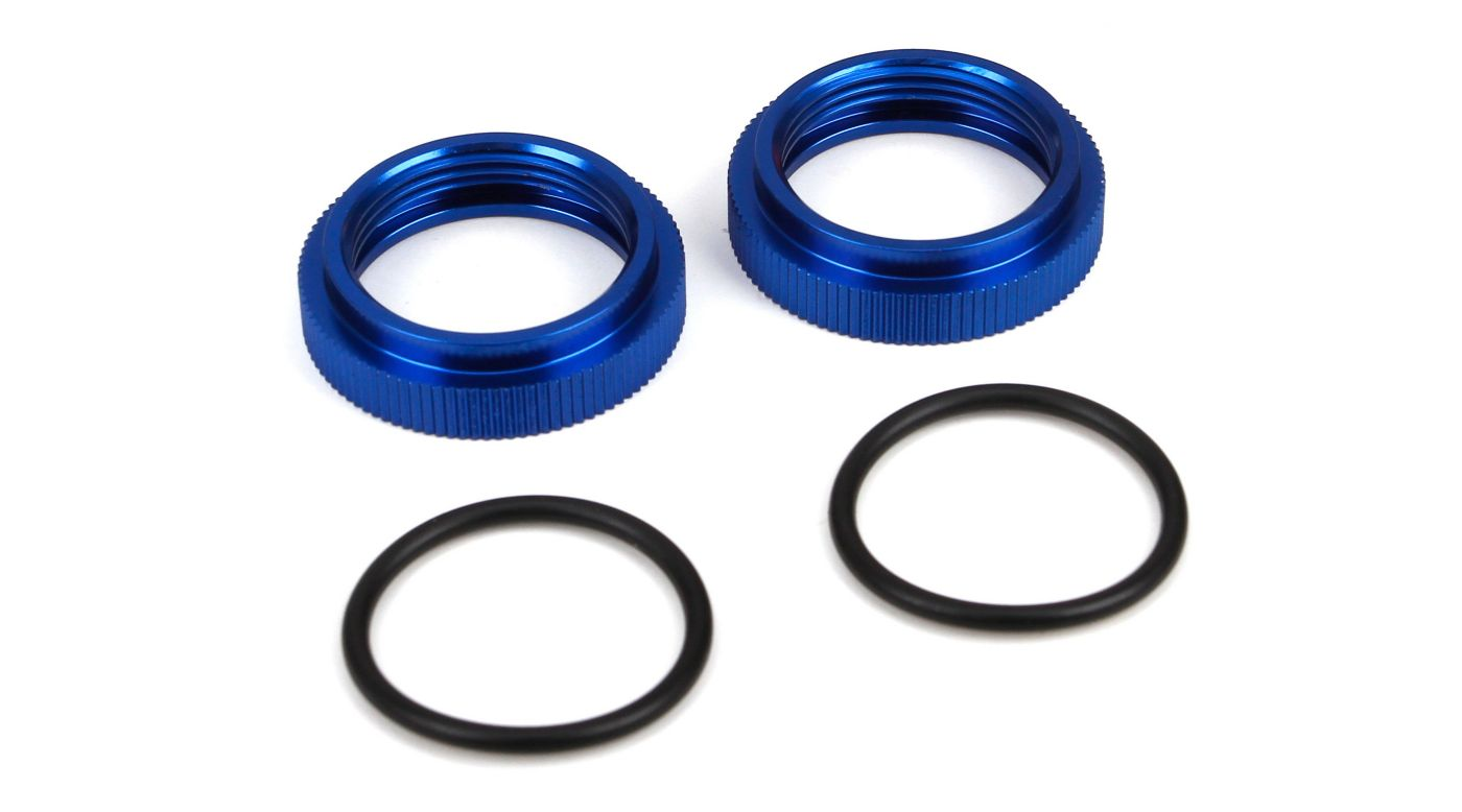 Image for Shock Adjust Nut w/O-ring, Aluminum (2): 5IVE-T, MINI WRC from HorizonHobby