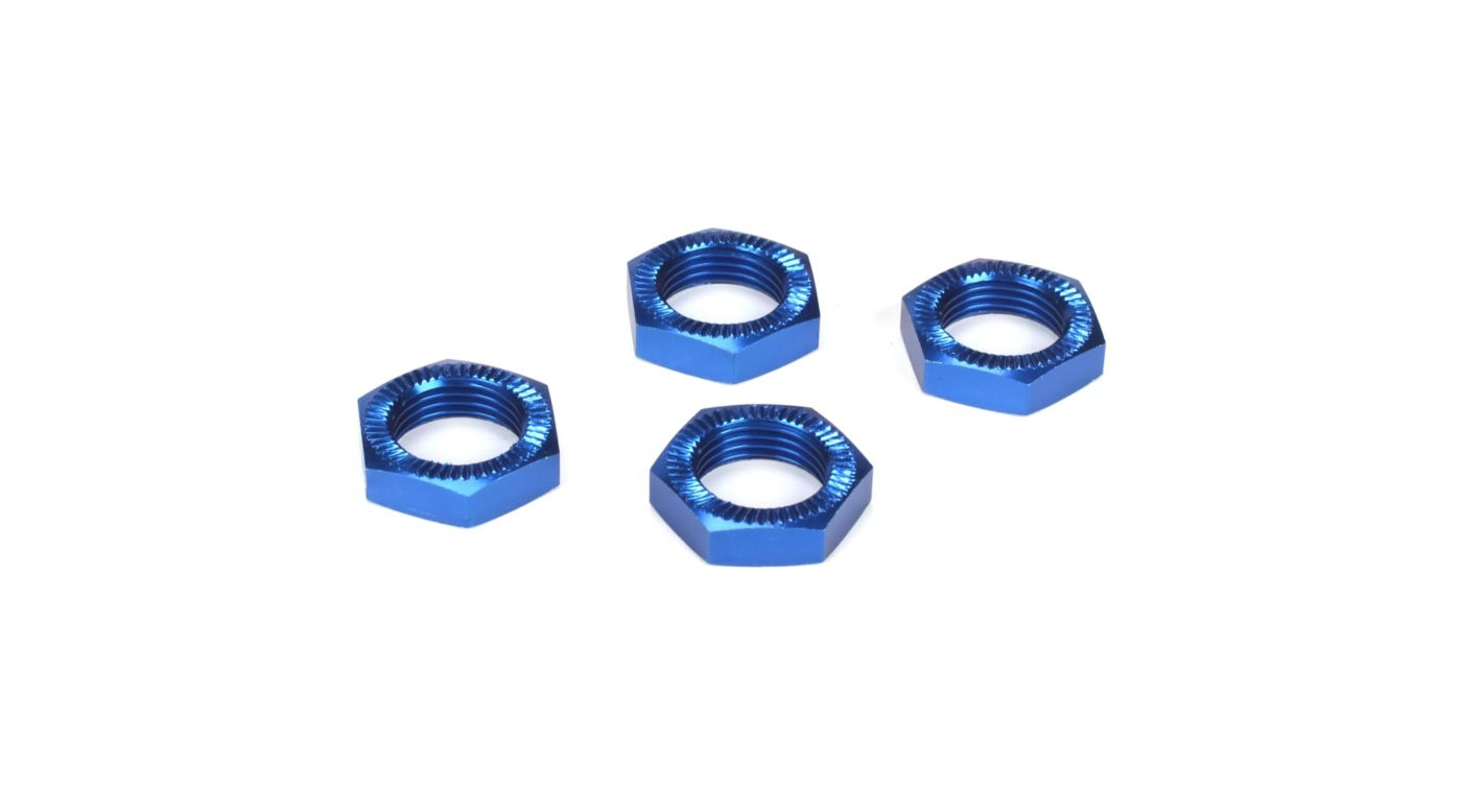 Image for Wheel Nuts, Blue Anodized (4): 5IVE-T, MINI WRC from HorizonHobby