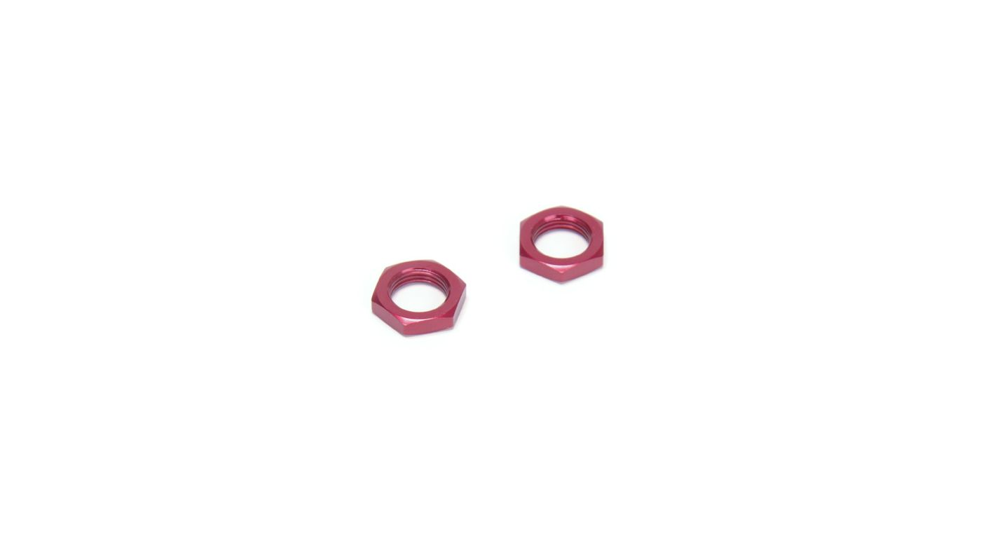 Image for 17mm Wheel Hex Nuts, Red (2): 8T 2.0 RTR from HorizonHobby
