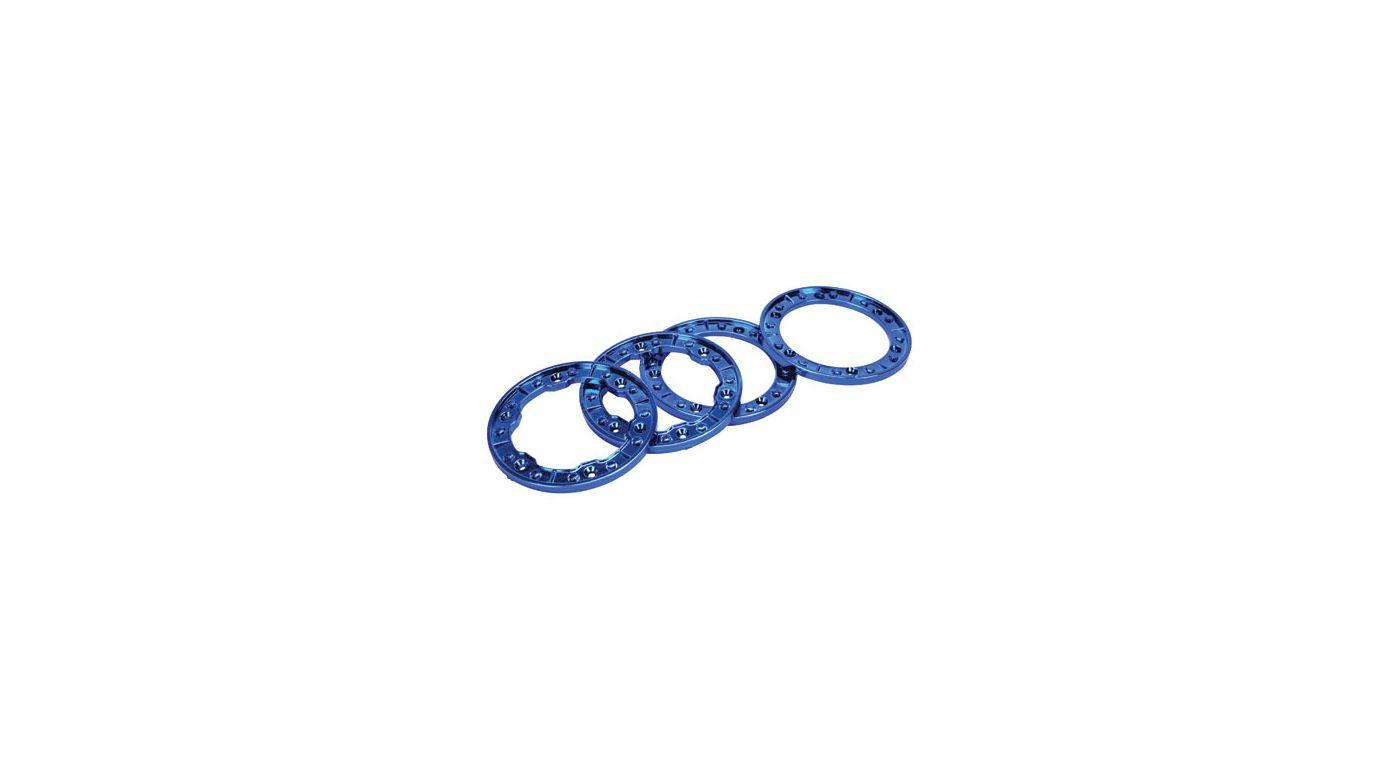 Image for Molded Beadlock Rings, Blue Chrome: NCR from HorizonHobby