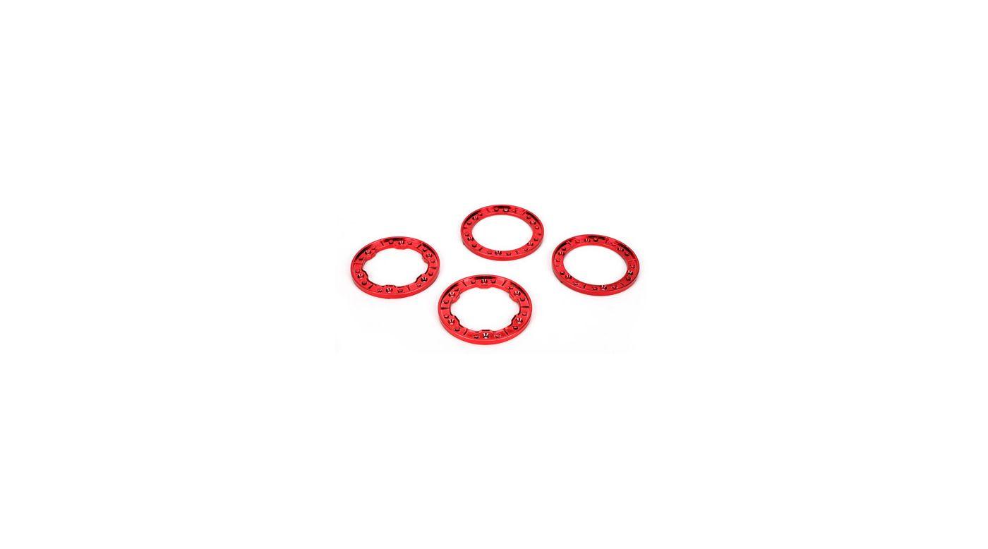 Image for Molded Beadlock Rings, Red Chrome: NCR from HorizonHobby
