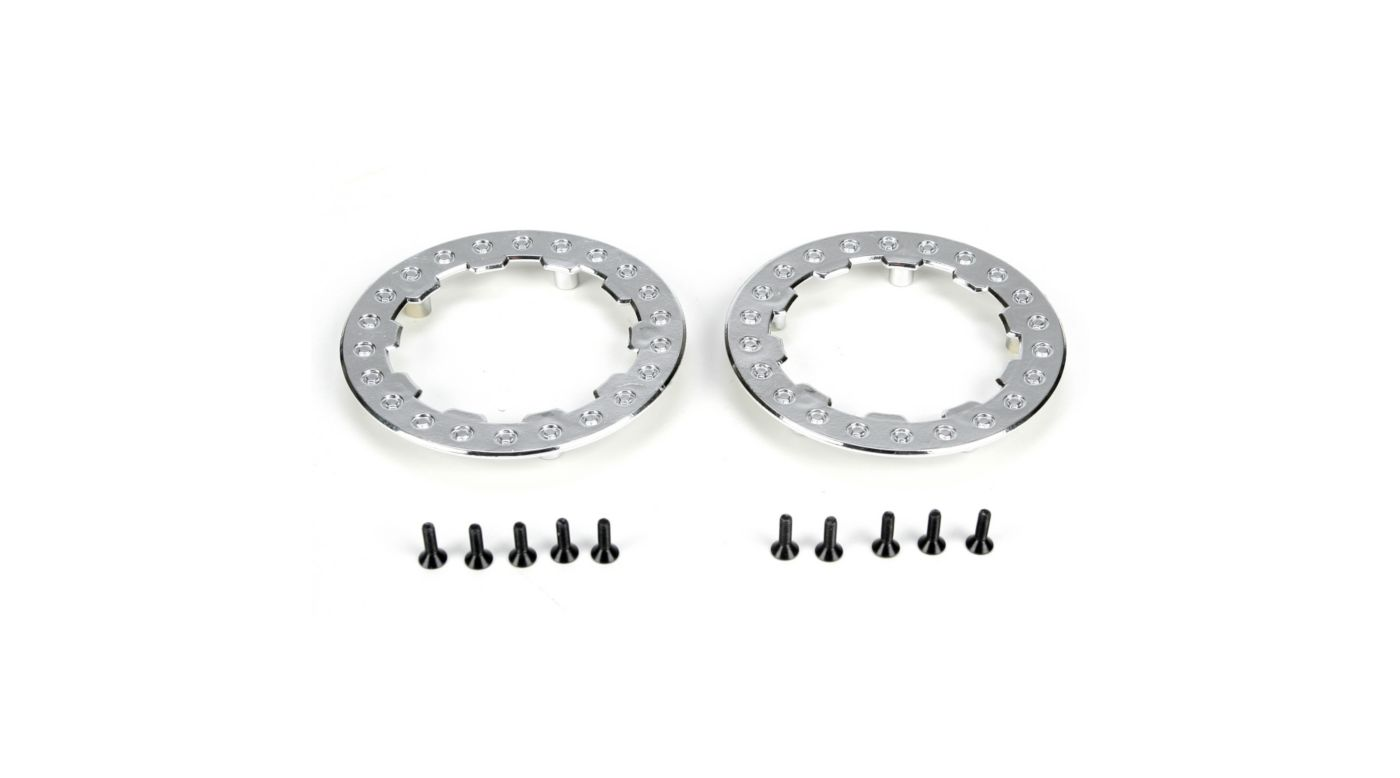 Image for Beadlock Ring w/Screws, Chrome: SCT/SCB/SCTE (4) from HorizonHobby