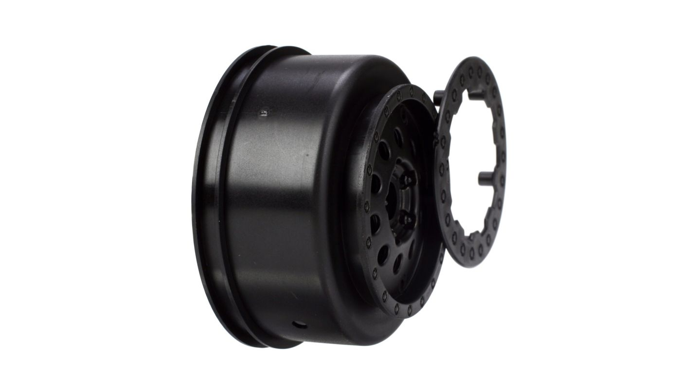 Image for Front Wheel Set, Black: XXX-SCT,SCB from HorizonHobby