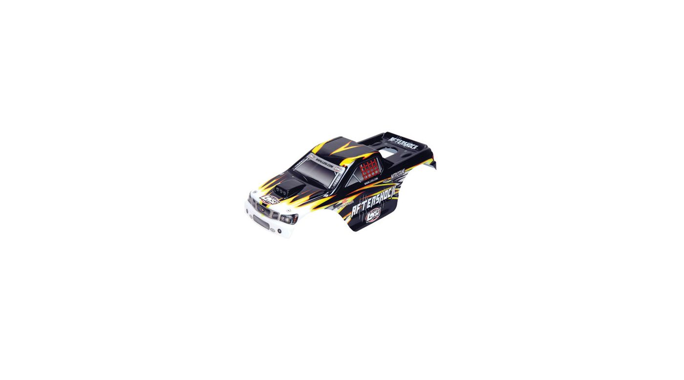 Image for Aftershock LE Painted Body, Black with Stickers from HorizonHobby