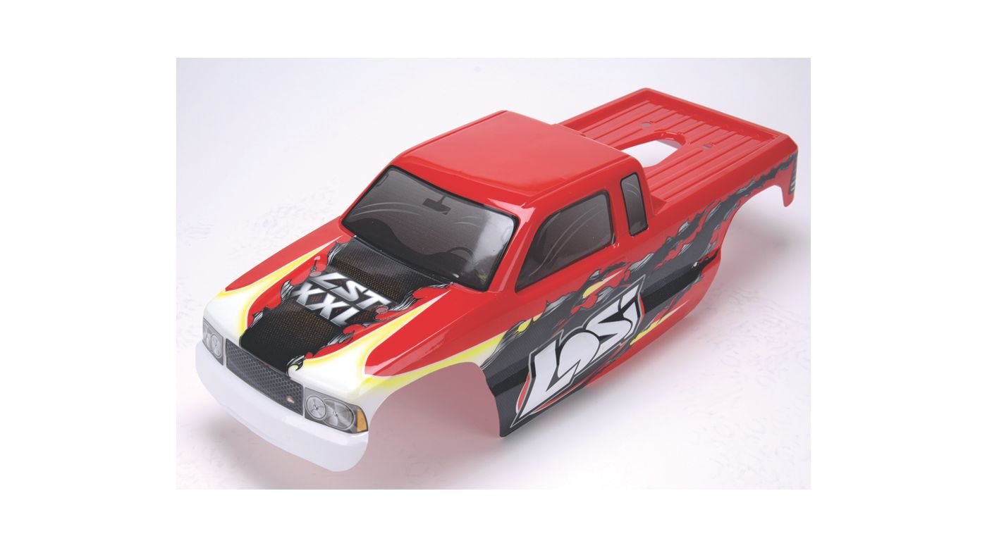 Image for XXL Painted Body, Red with Stickers from HorizonHobby