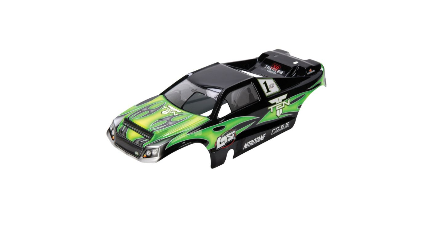 Image for TEN-T Painted Body, Green with Stickers from HorizonHobby