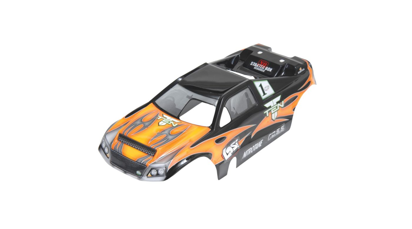 Image for TEN-T Painted Body, Orange with Stickers from HorizonHobby