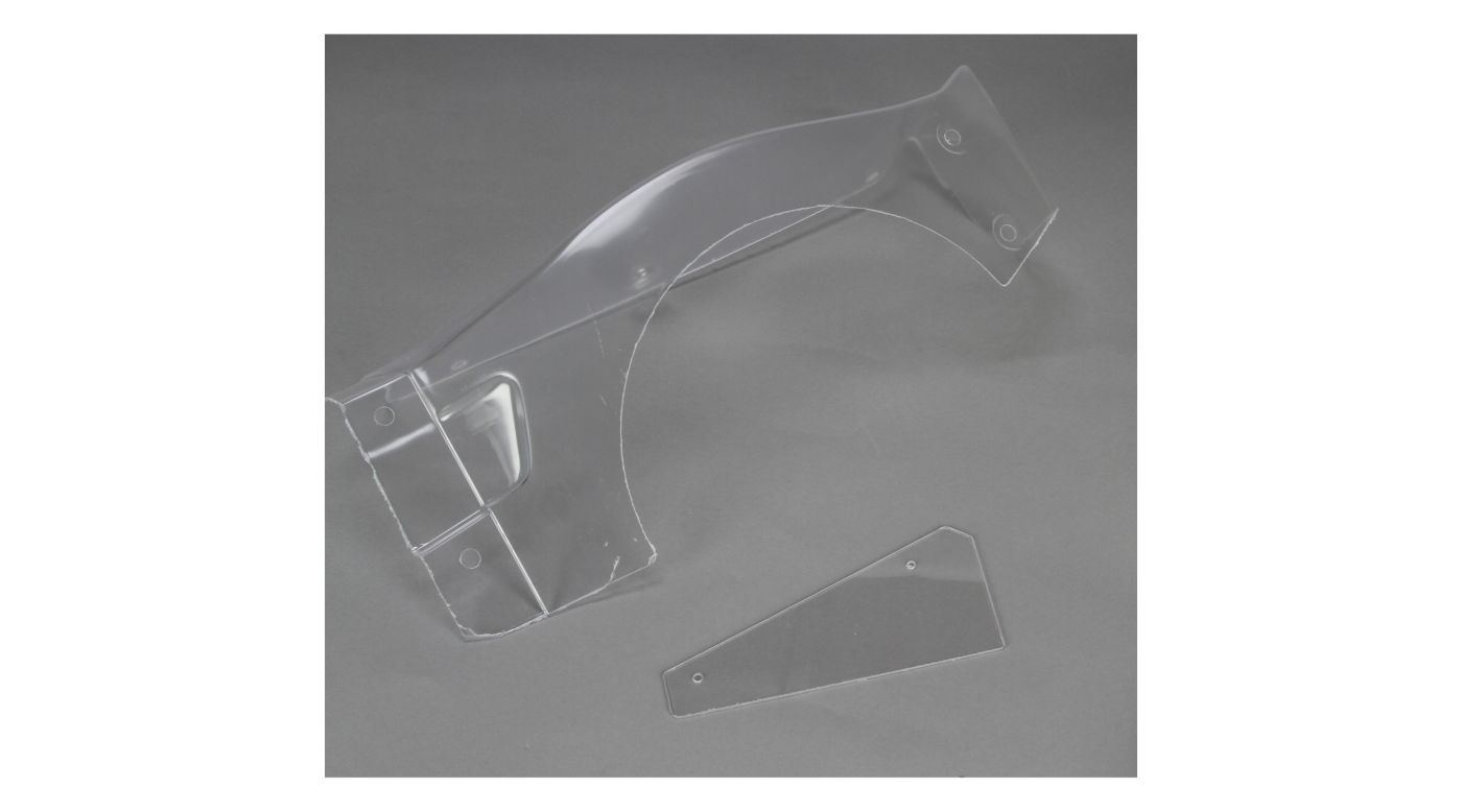 Image for Body Left Fender & # Plate, Clear: 5IVE-T from HorizonHobby