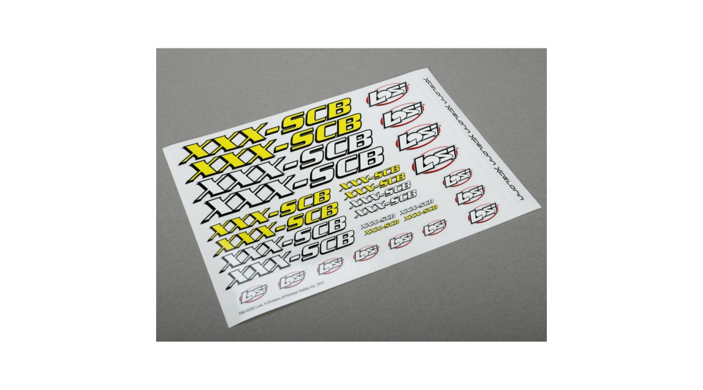 Image for Sticker Sheet: XXX-SCB from HorizonHobby