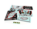Losi - 5IVE-T Sticker & Graphic Sheet Set: White