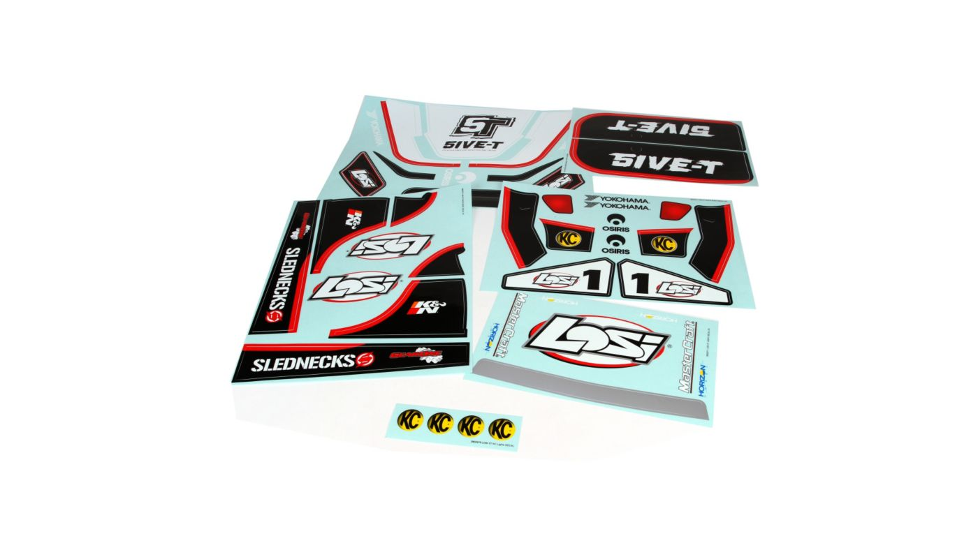Image for 5IVE-T Sticker & Graphic Sheet Set: White from HorizonHobby