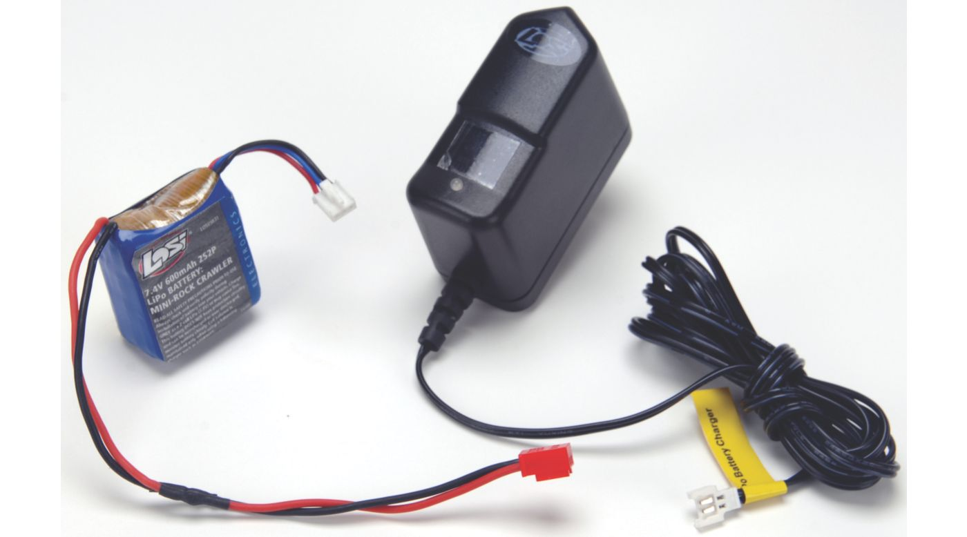 Image for 7.4V 600mAh 2S2P LiPo/Charger Combo: MRC from HorizonHobby