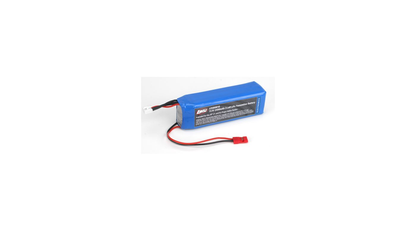 Image for 11.1V 2400mAh 3S LiPo Tx Pack: Z-1,Helios from HorizonHobby