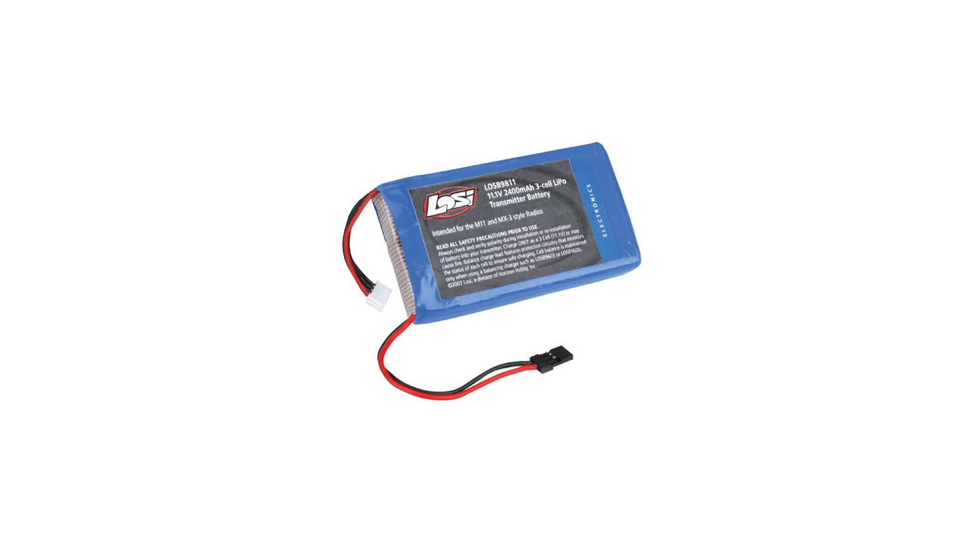 Image for 11.1V 2400mAh 3S LiPo Tx Pack: M11, MX-3 from HorizonHobby