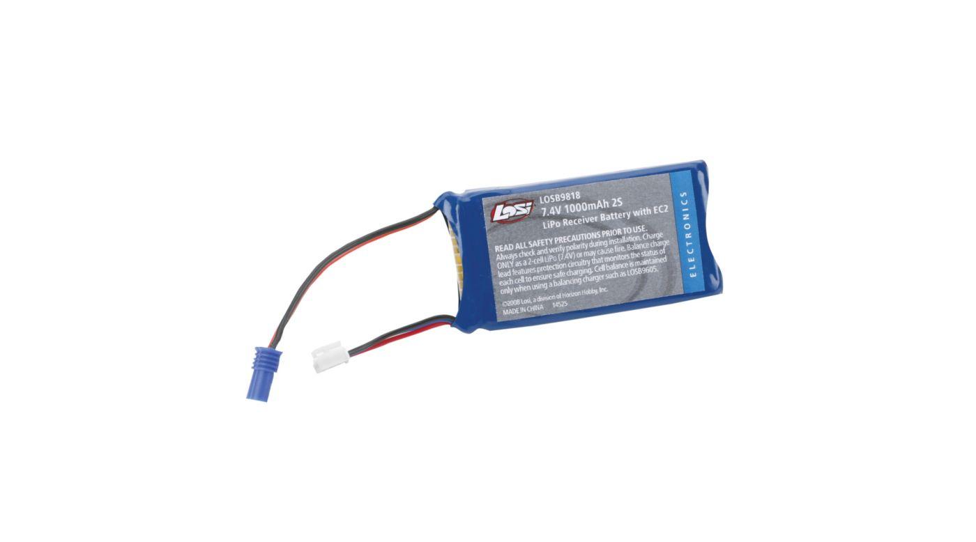 Image for 7.4V 1000mAh 2S LiPo Pack: 10-T from HorizonHobby