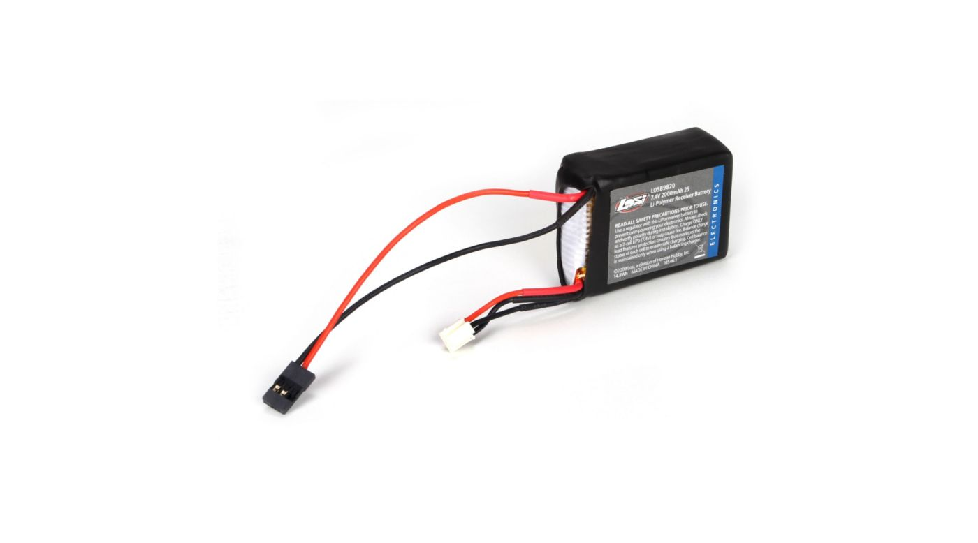 Image for 7.4V 2000mAh 2S LiPo Receiver Pack: 1/8 from HorizonHobby