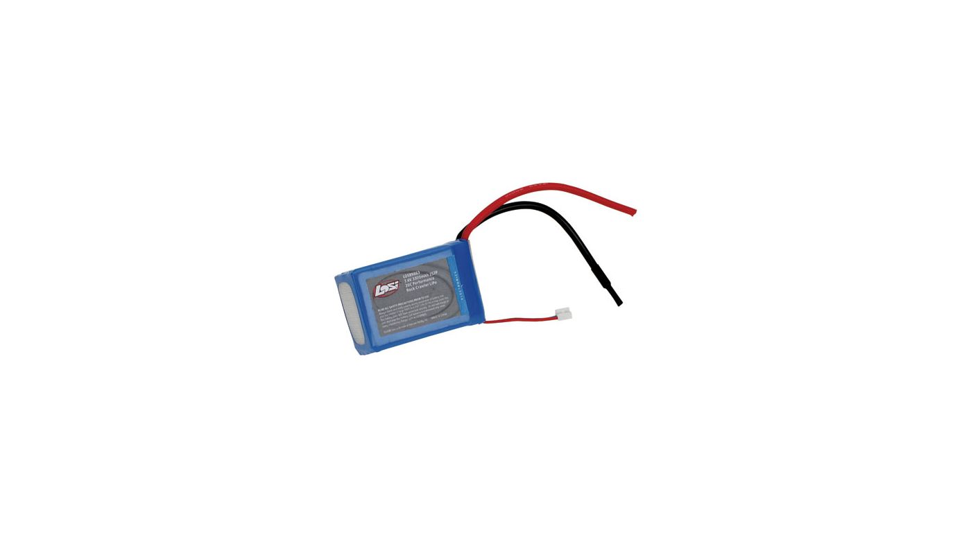 Image for 7.4V 3300mAh 2S2P 20C LiPo: Crawler from HorizonHobby