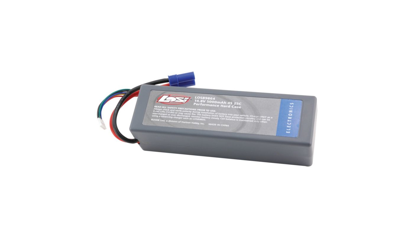 Image for 14.8V 5000mAh 4S 25C LiPo Hard Case from HorizonHobby