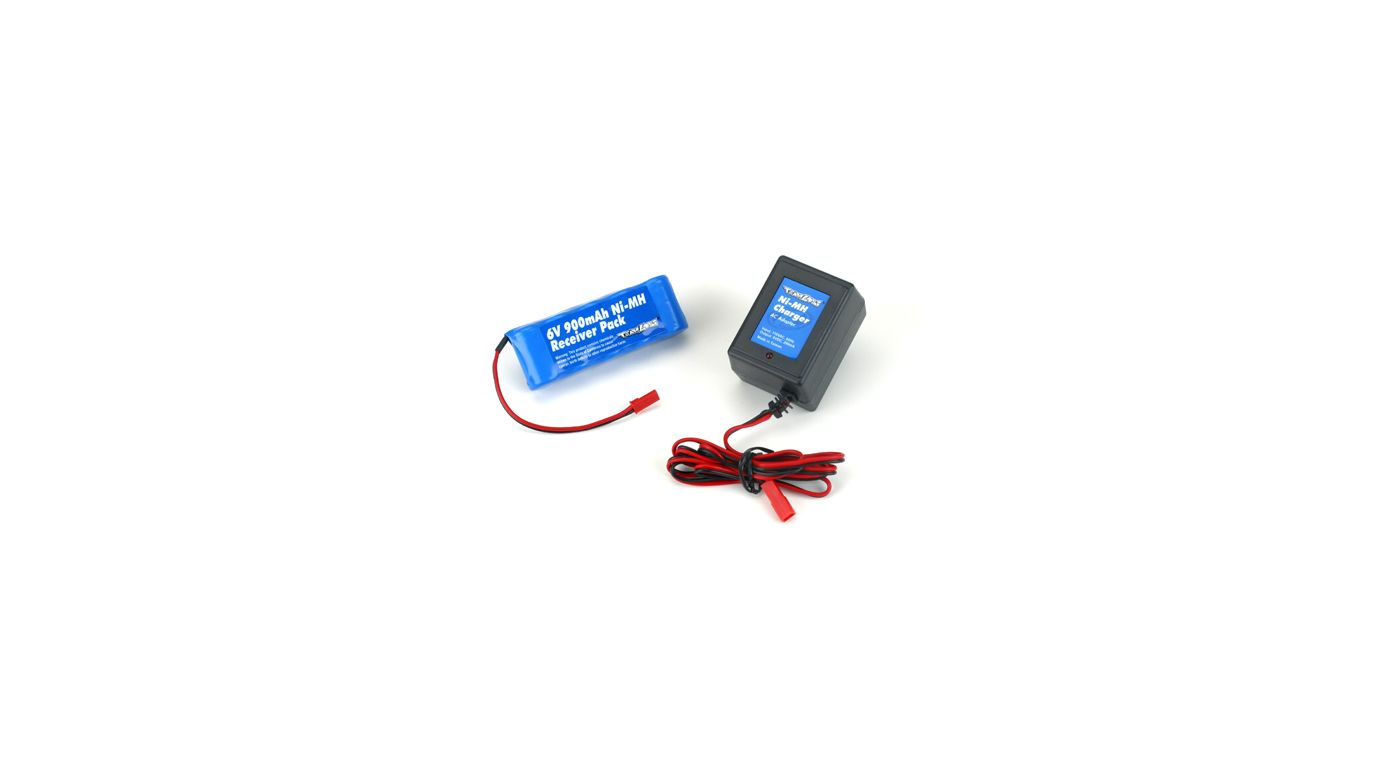 Image for 6V 900 NiMH Receiver Flat Pack with Charger from HorizonHobby