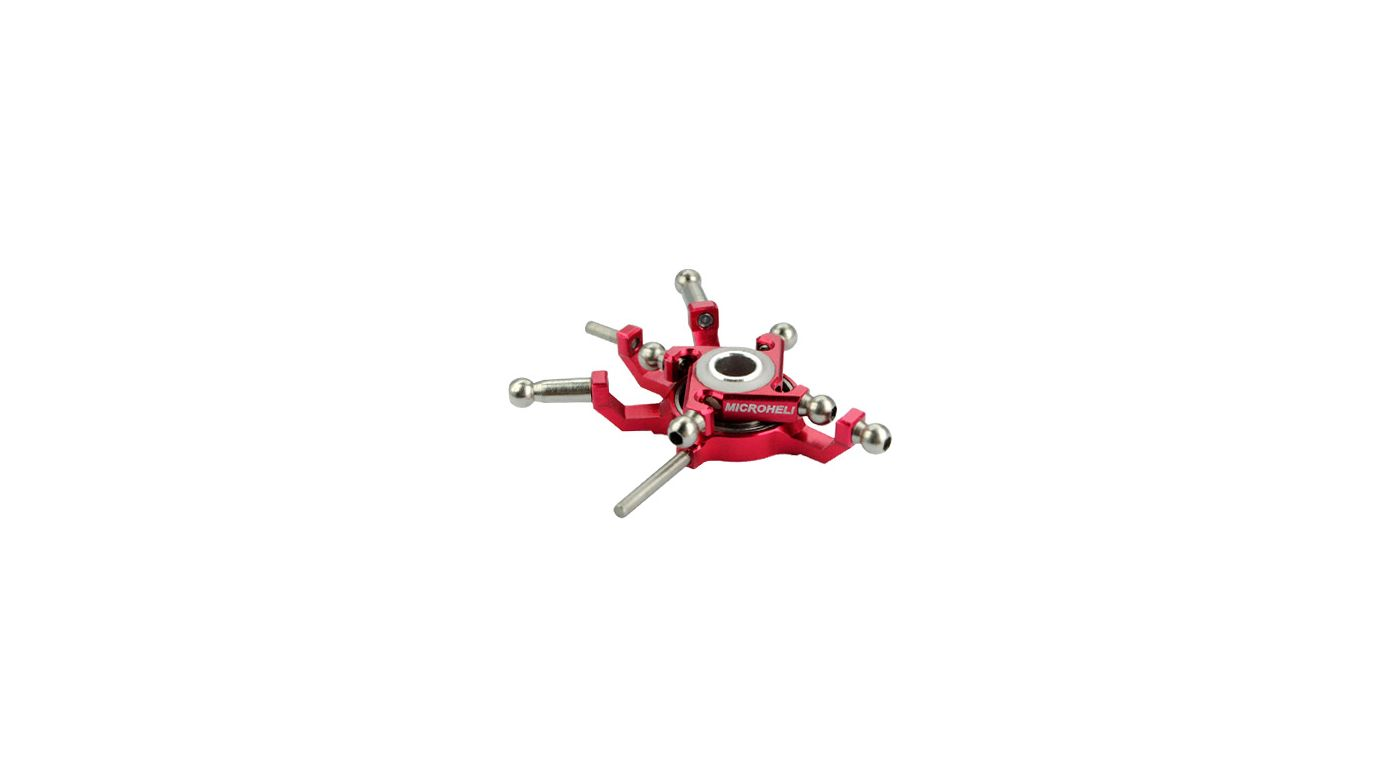 Image for CNC Titanium Swashplate, Red: Blade Red Bull 130 X from HorizonHobby