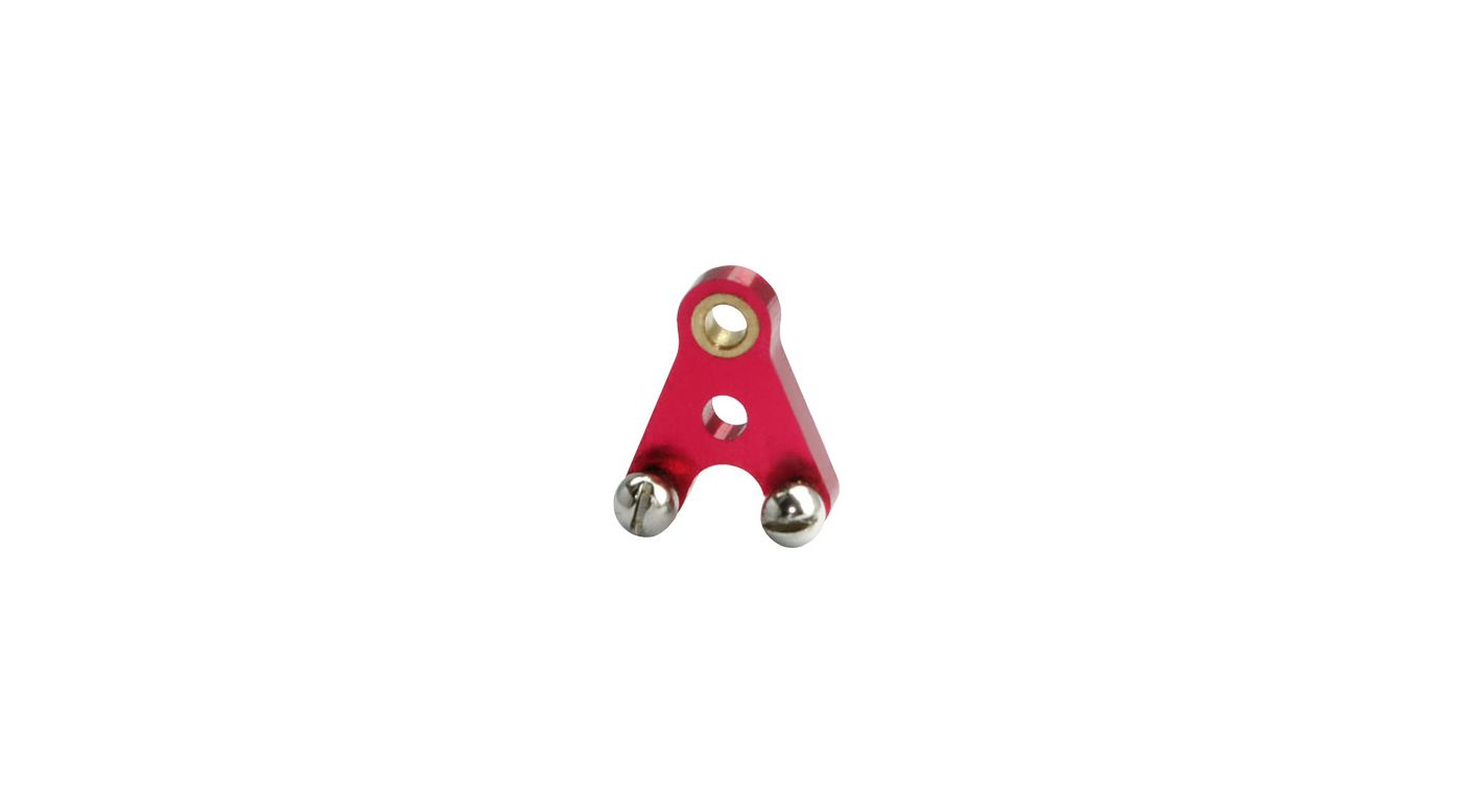 Image for Aluminum Tail Pushrod Control Arm, Red: Blade Red Bull 130 X from HorizonHobby