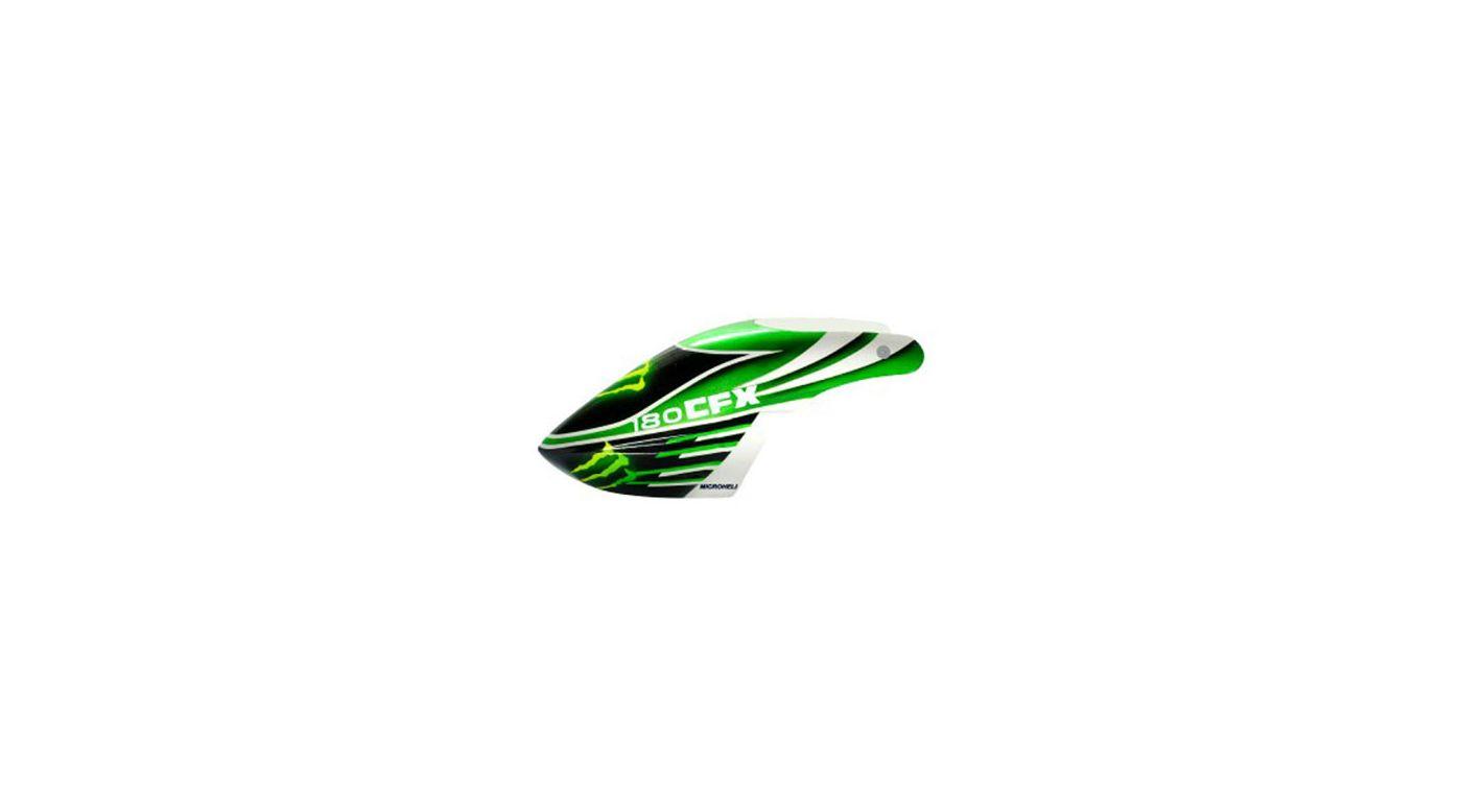 Image for Airbrush Fiberglass Green Monster Canopy: 180 CFX from HorizonHobby