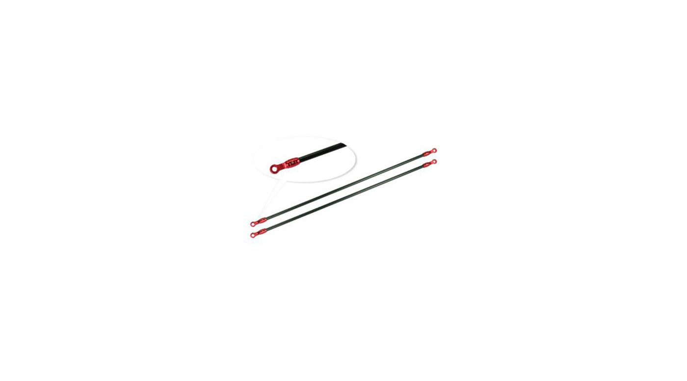 Image for Red Aluminum/Carbon Tail Boom Support Set: Blade 180 CFX from HorizonHobby
