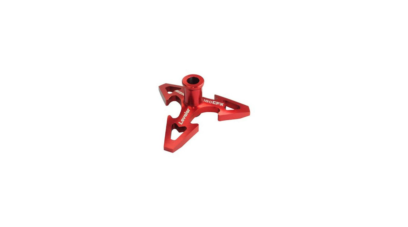 Image for CNC Aluminum Swashplate Leveler, Red: 180 CFX from HorizonHobby