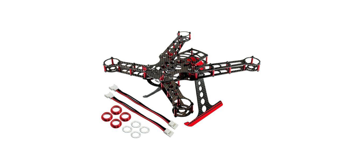200 Qx Frame Kit Aluminum Carbon Fiber Red Horizonhobby