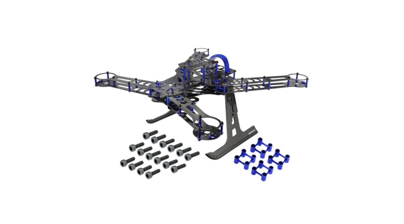 Image for CNC Aluminum/Carbon Fiber Quad Frame Kit, Blue/Purple: 350 QX from HorizonHobby