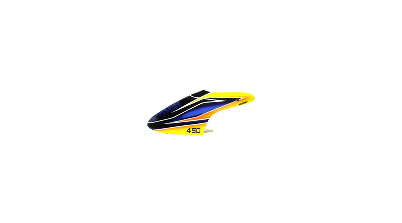 Image for Blue Evil Canopy, Airbrushed Fiberglass: Blade 450 3D/X from HorizonHobby