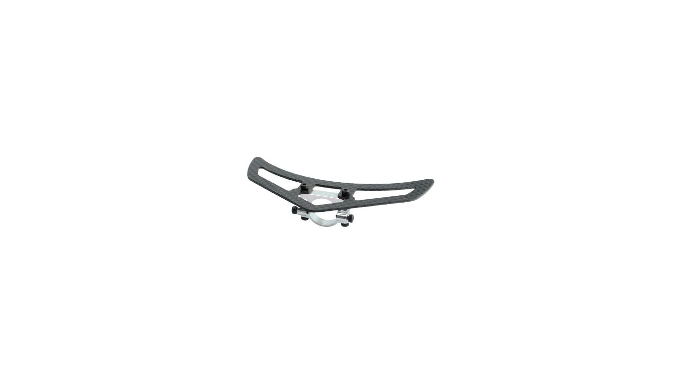 Image for Aluminum Tail Boom Support Mount w/ Fin: Blade 450 3D/X from HorizonHobby