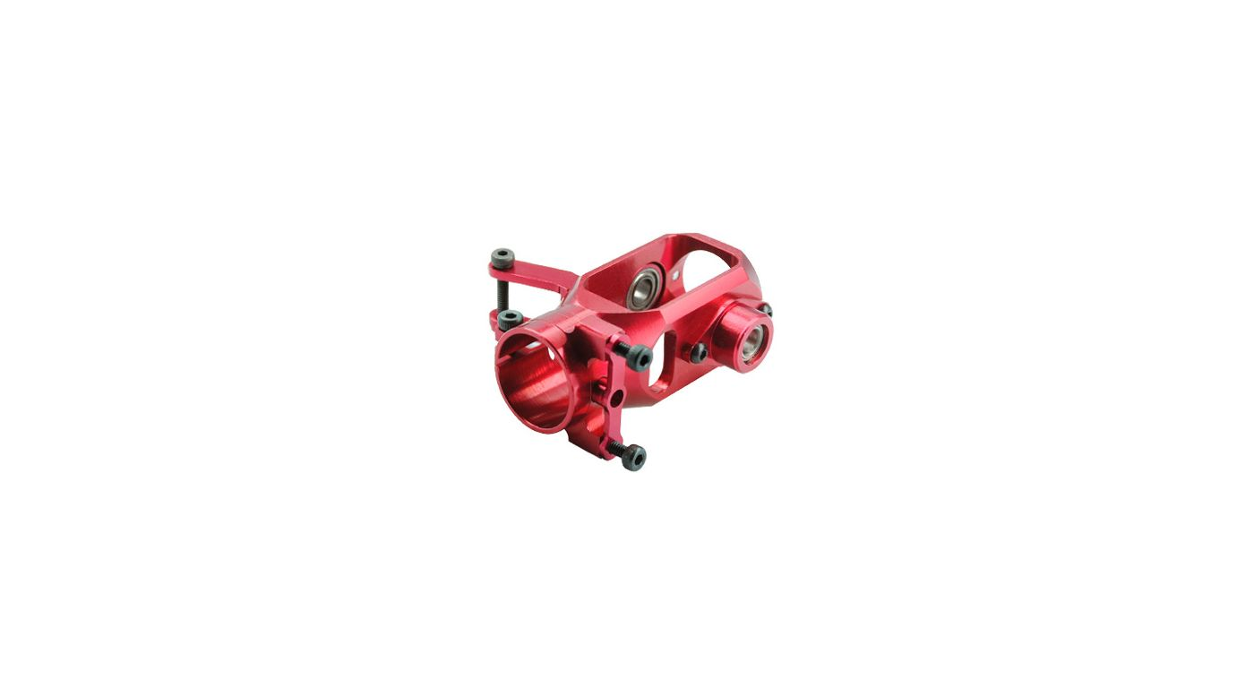 Image for Aluminum Tail Gear Case, Red: Blade 450 X from HorizonHobby