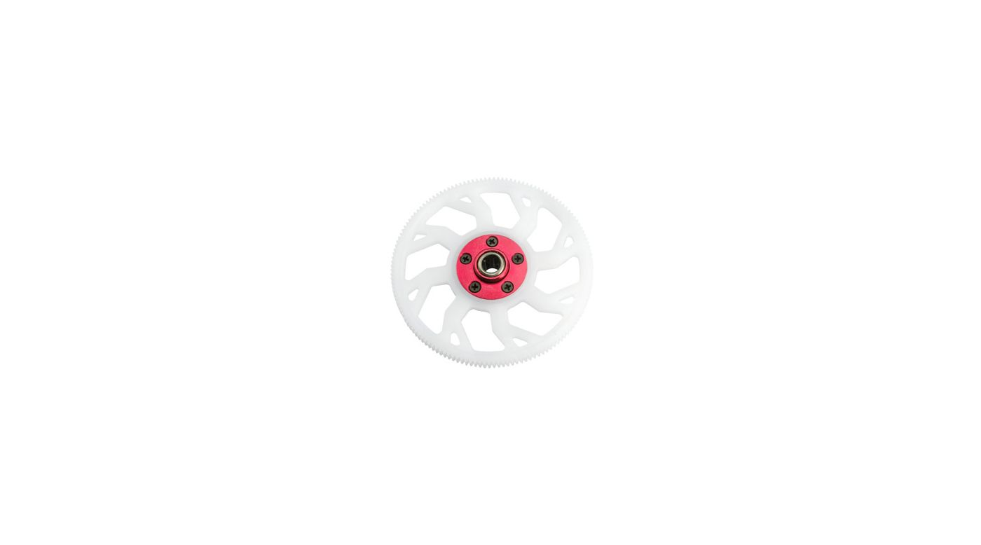 Image for CNC Delrin Main Gear w/Auto-Rotation Hub, Red: Blade 450 3D/X from HorizonHobby