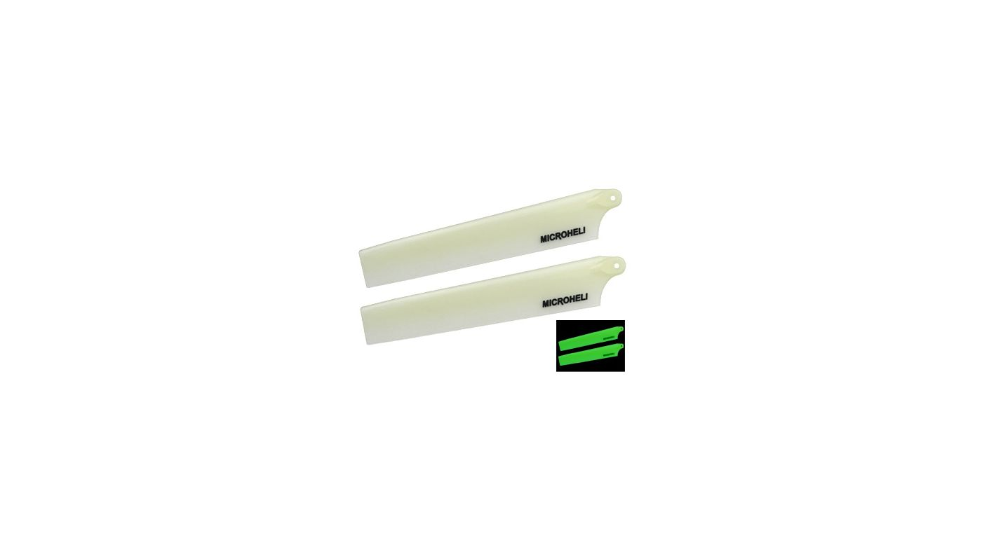 Image for Glow Plastic Main Blade 117mm, White: mCP X BL from HorizonHobby