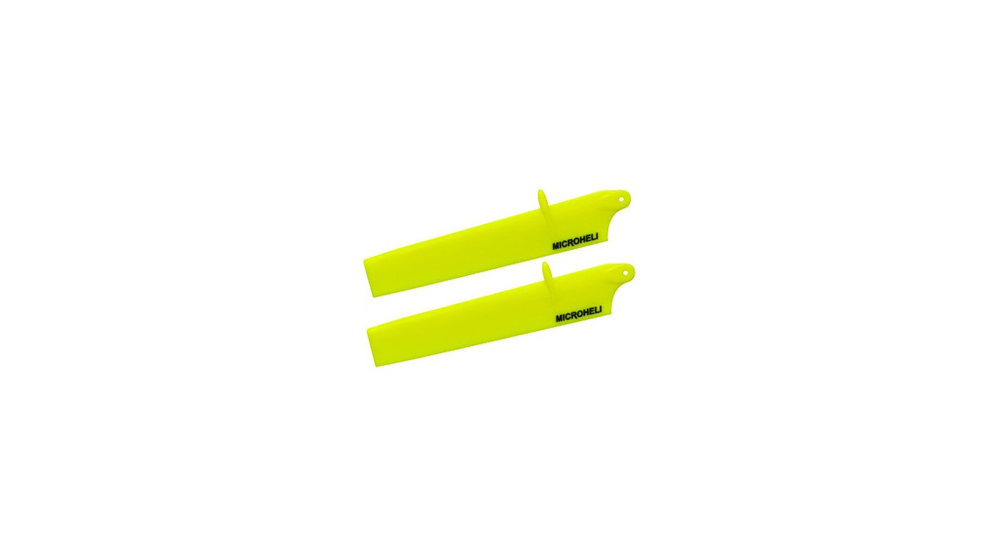 Image for Bullet Plastic Main Blade 117mm, Yellow: mCP X BL from HorizonHobby