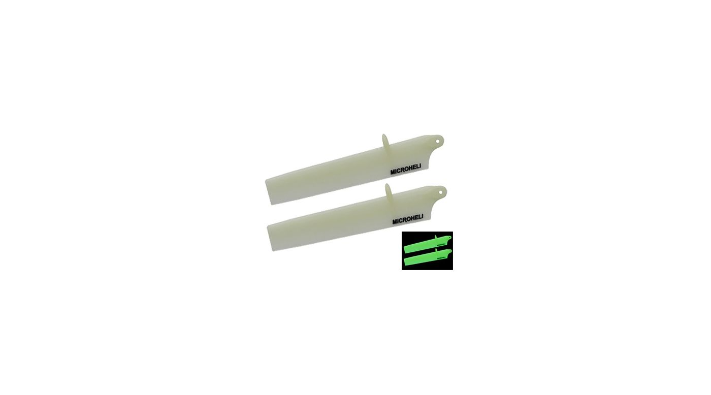 Image for Glow Bullet Plastic Main Blade, 117mm, White: mCP X BL from HorizonHobby