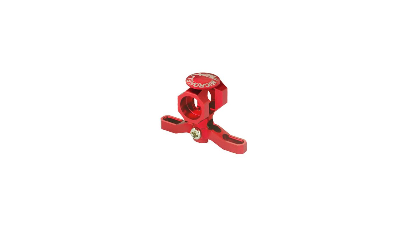 Image for CNC Aluminum Main Rotor Hub w/Button, Red: mCP X BL from HorizonHobby