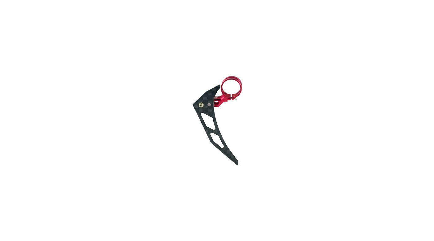 Image for Tail Motor Mount w/ Vertical Fin, Red: MHE 3mm Tail Boom from HorizonHobby