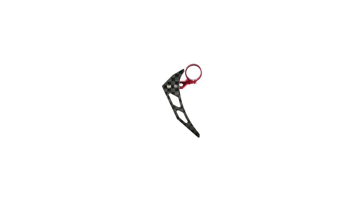 Image for Tail Motor Mount w/ Vertical Fin Set, Red: mCP X BL from HorizonHobby