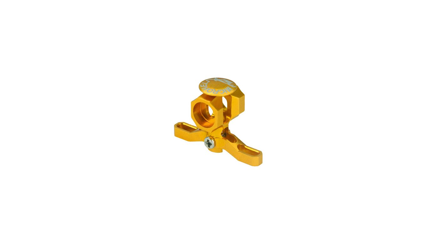 Image for CNC Aluminum Main Rotor Hub w/Button, Gold: mCP X BL from HorizonHobby
