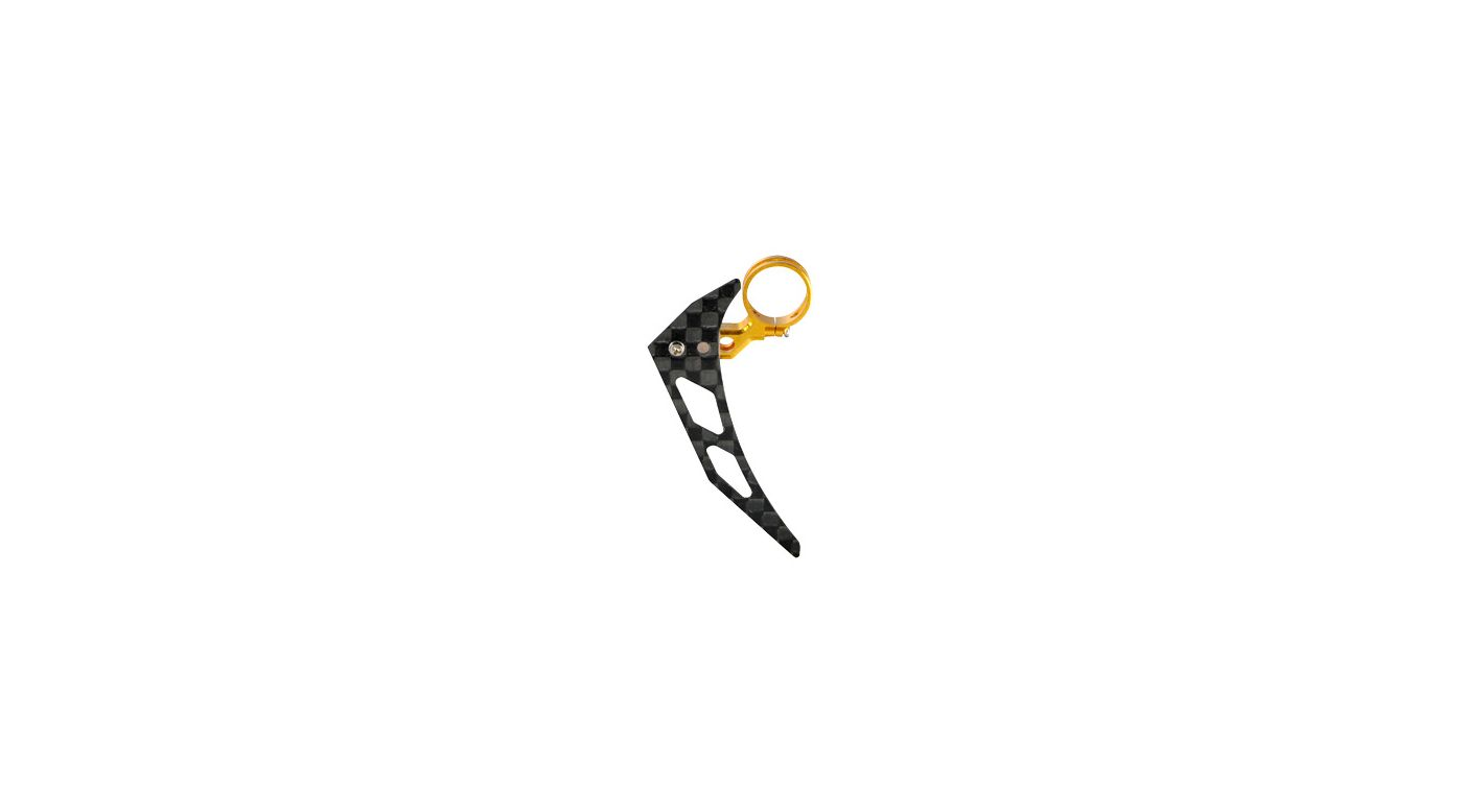 Image for Tail Motor Mount w/ Vertical Fin Set, Gold: mCP X BL from HorizonHobby