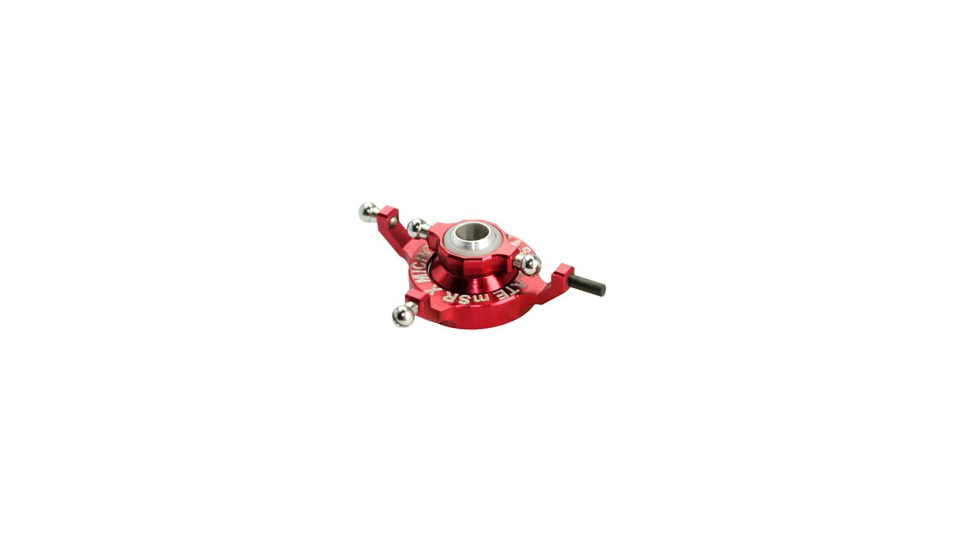 Image for Precision CNC Aluminum X Swashplate, Red from HorizonHobby