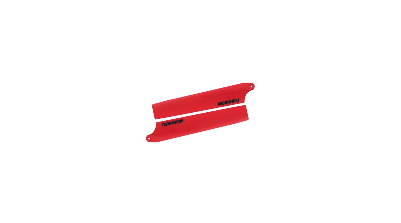 Image for Long Plastic Main Blade 94mm, Red: Blade Nano CP X from HorizonHobby