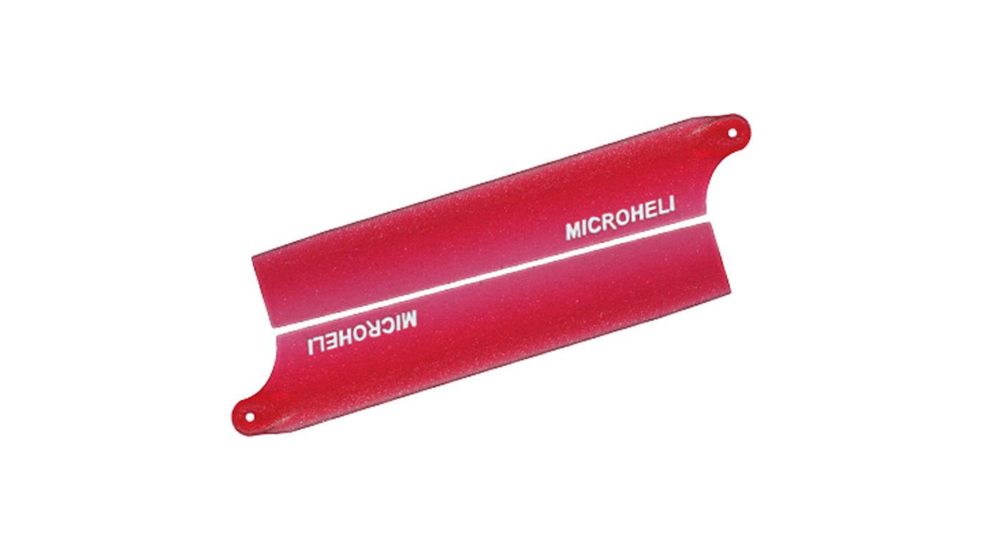Image for Reflective Plastic Main Blade 85mm, Red: Blade Nano CP X from HorizonHobby