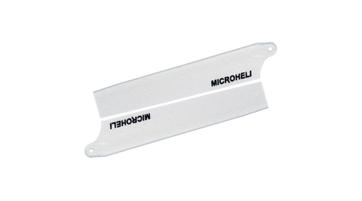 Image for Reflective Plastic Main Blade 85mm, White: Blade Nano CP X from HorizonHobby
