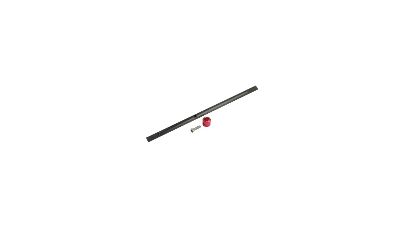 Image for CNC Solid Carbon Main Shaft/Collar Set, Red: Blade Nano CP X from HorizonHobby