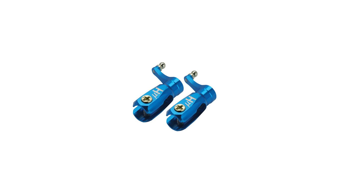 Image for Aluminum Triple Bearing Main Blade Grip, Blue: Blade Nano CP X from HorizonHobby