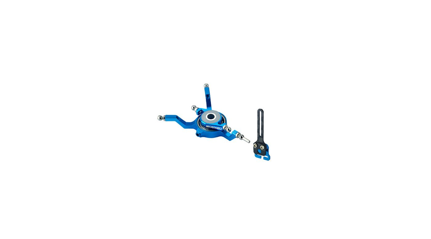 Image for Alum Swashplate w/Anti-Rotation Guide, Blue: Blade Nano CP X from HorizonHobby